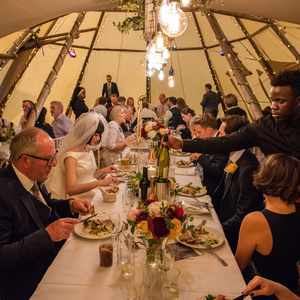 Catering to the table in the tipis wedding & events catering