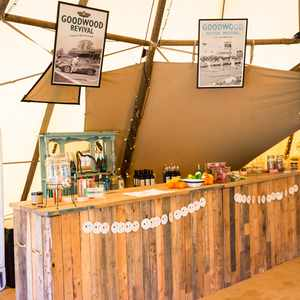 Bar hire outdoor marquee tipi weddings worcestershire