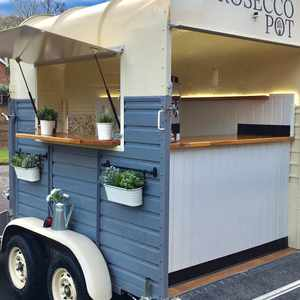 Prosecco trailer bar for marquee tipi weddings worcestershire