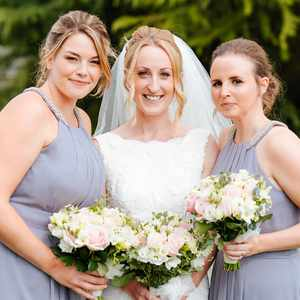 The Stunning Bride Hayley with her bridesmaids