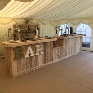 Bar hire for tipi or marquee wedding Worcestershire